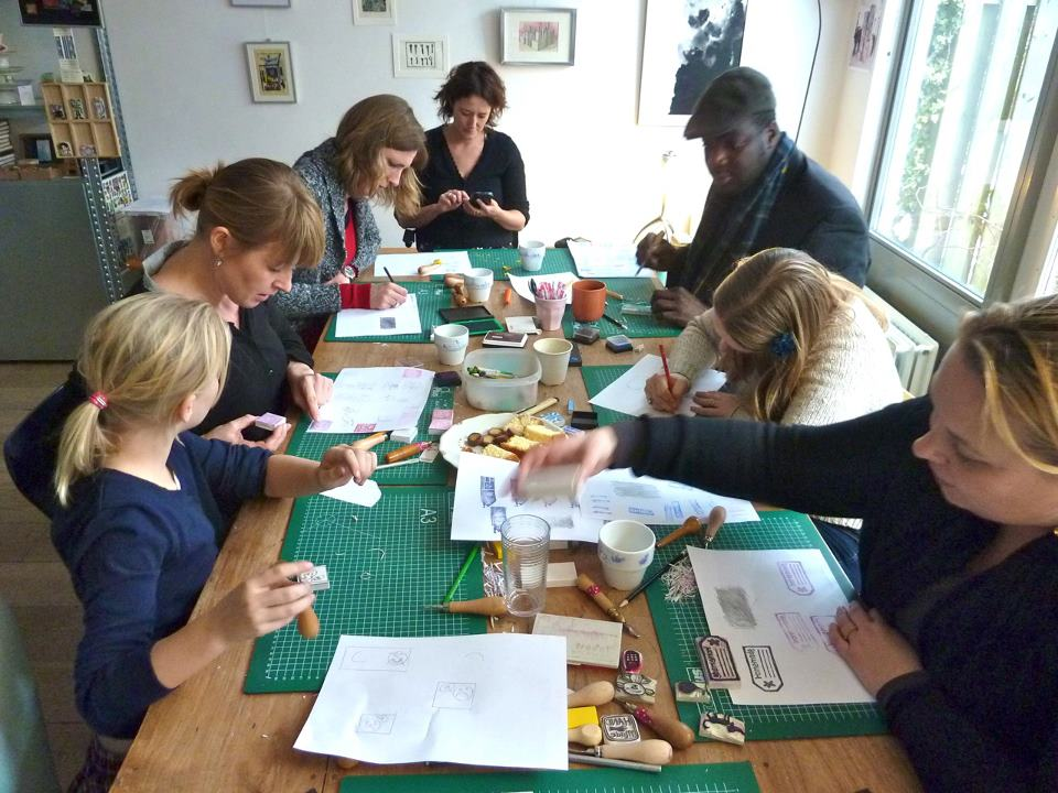 Workshops: collages, stempels...